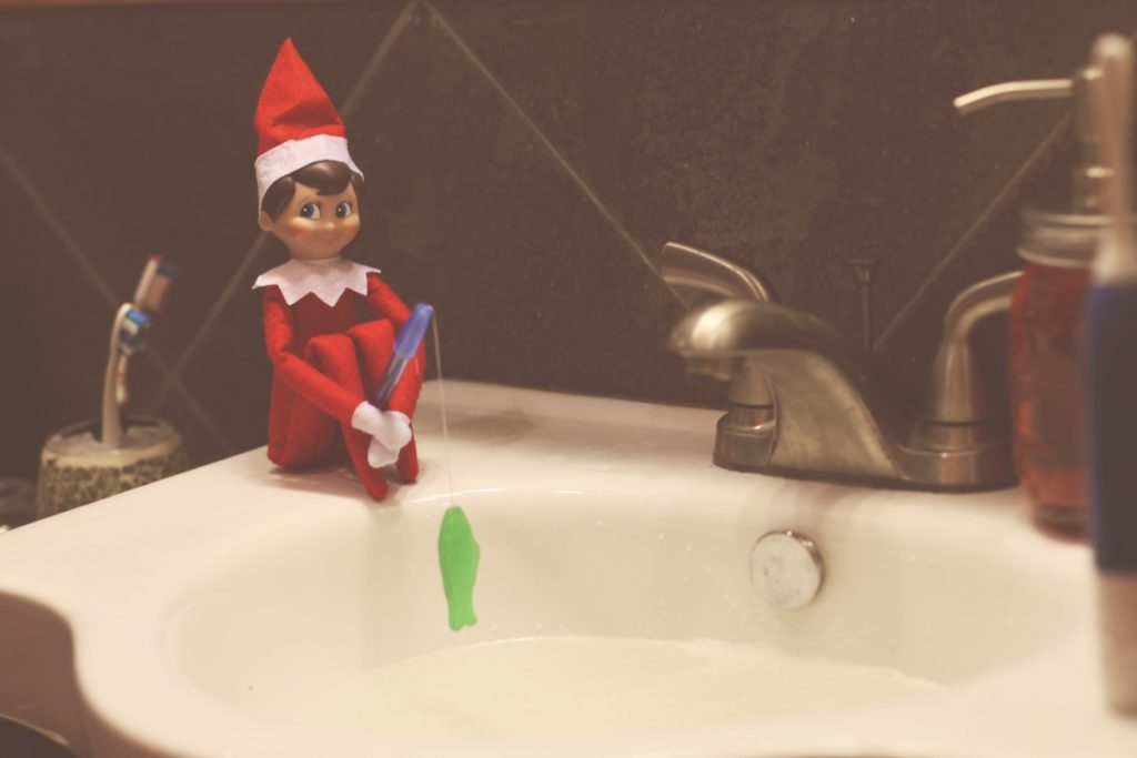 Elf On The Shelf Fishing Lilies And Loafers